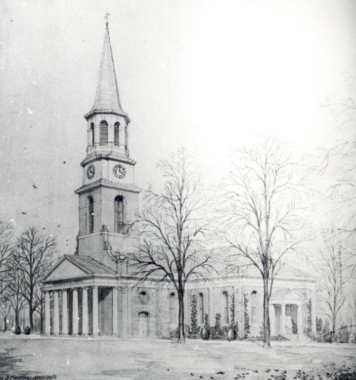 Lee Chapel second extension proposal sketch, 1920