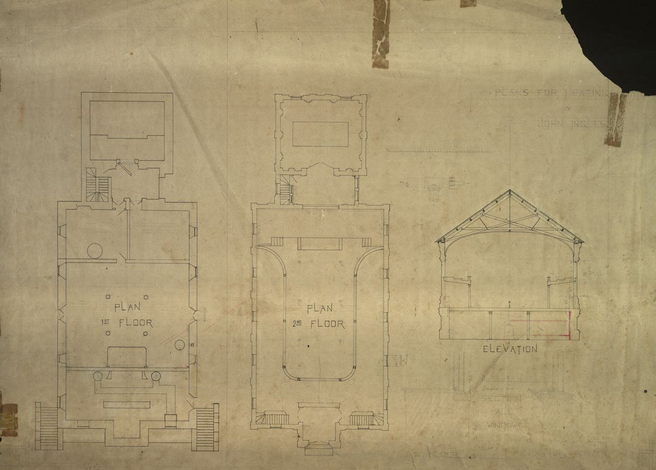 Lee Chapel Drawn Plans